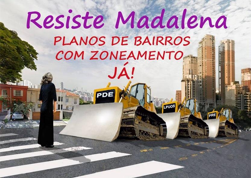 Ilustração da página do movimento contra a verticalização da Vila Madalena