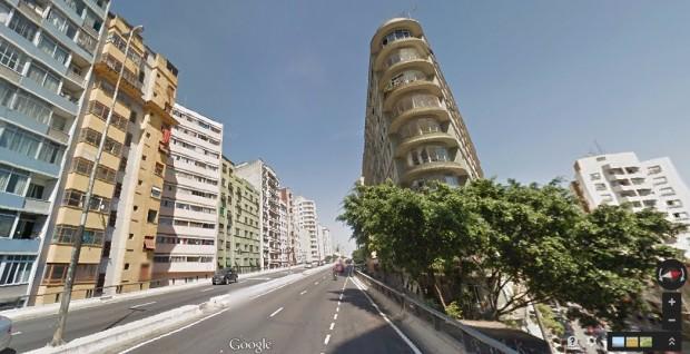 Imagem do Google Street View do edifício de onde é emitido o sinal wi-fi