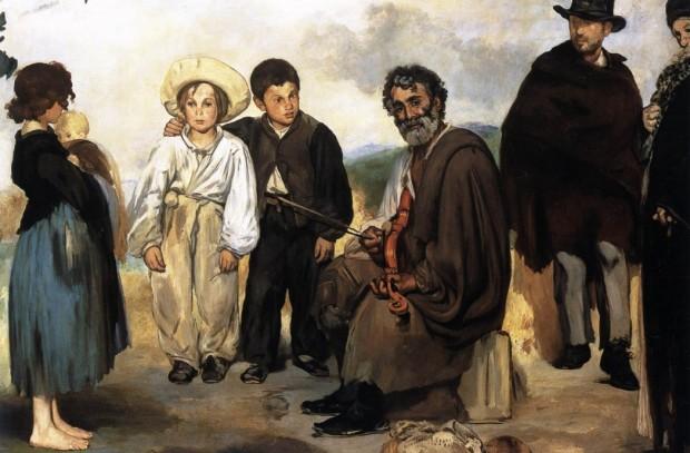 """Obra """"O velho músico"""", de Édouard Manet"""